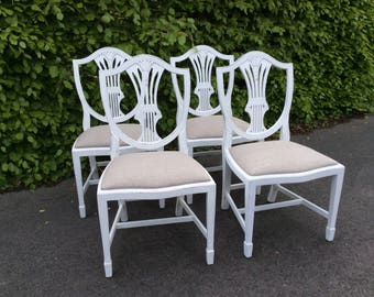 SOLD NOW  *******Four restored dining chairs