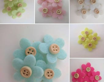 Cloth flowers stickers