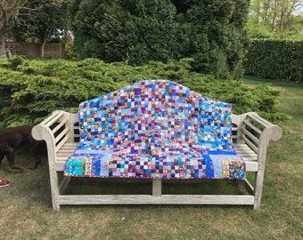 Blue Mosaic Quilt