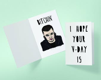 Eleven Bitchin' Valentine's Day Stranger Things Inspired Greeting Card