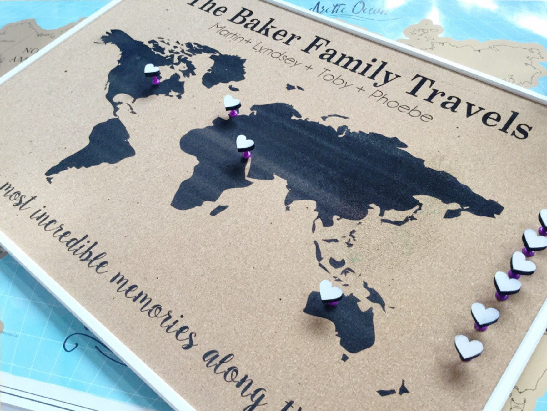 Personalised push pin world map cork board map anniversary gift gallery photo gallery photo gallery photo gallery photo gallery photo gumiabroncs Choice Image