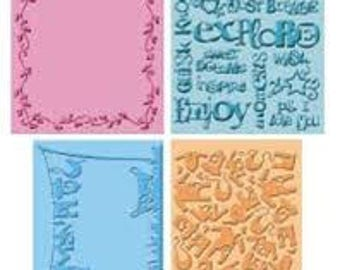 Provo Craft CuttleBug Embossing Folder Set of 4. Wall Decor and more. Item is new.