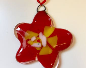 Flower ornament 'Red'