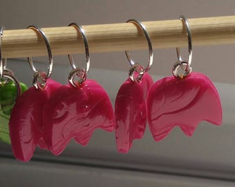 Leaf and Flower Stitch Markers (Set of 5)