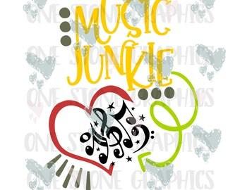 Music junkie svg,music svg,music notes,music notes svg,band svg,band,music svg file,svg,svg file,svg image,trendy,cute svg,kid svg,heart