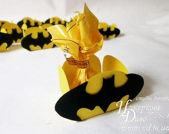 10 candy box theme Batman-Unique design-party decor-Candy bar decor-party gift box-favor box- gifts birth boy party sweet table-candy cups