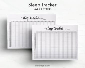 Sleep Tracker, A4 Printable, Sleep Journal, Sleep Planner, Health Planner, Printable Planner, Health Tracker, Habit Tracker, Sleep Printable