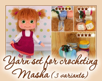 Yarn set for crocheting Masha