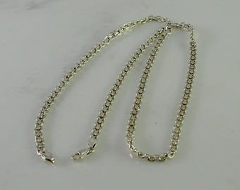 "Sterling 23"" Chain Italy 925"