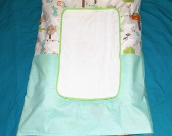 Mattress cover diaper baby green and owls