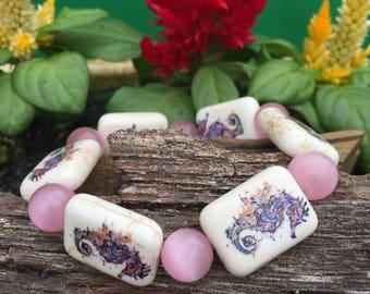 Seahorse stretch bracelet