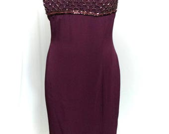 purple dress with rhinestones
