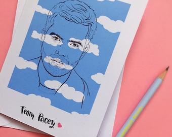 Team Pacey- Dawsons Creek- Pacey Witter- Joshua Jackson- Fringe- The Affair- Blank Card