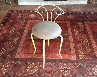 Small art deco painted iron chair