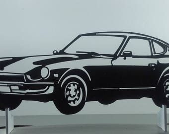 Plate DATSUN 240Z iron sign painted hammered effect finish