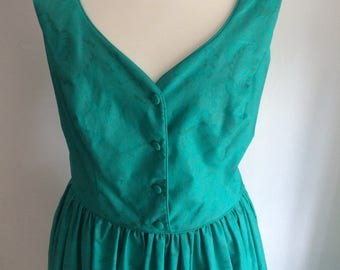 Laura Ashley - Super cute turquoise green  summer/occasion dress UK size 12