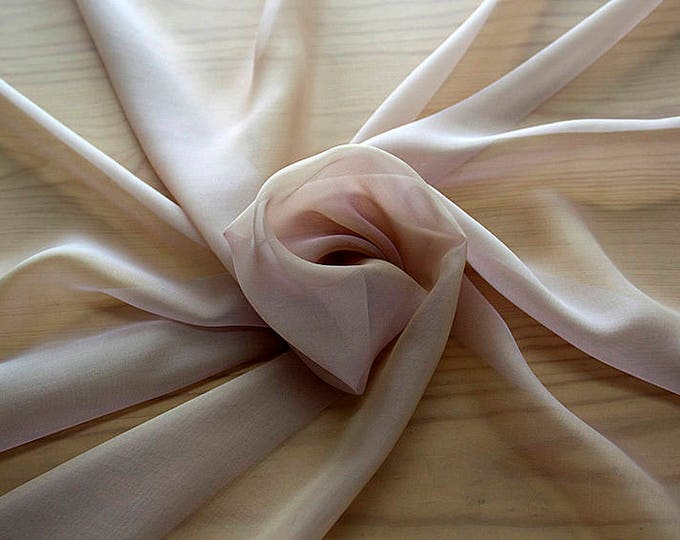 221011-Mouseline natural Silk Cangiante 100%, width 135/140 cm, chiffon litmus, made in Italy, dry washing, weight 35 gr