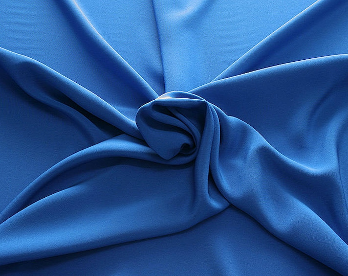 305142-Crepe marocaine Natural Silk 100%, width 130/140 cm, made in Italy, dry cleaning, weight 215 gr