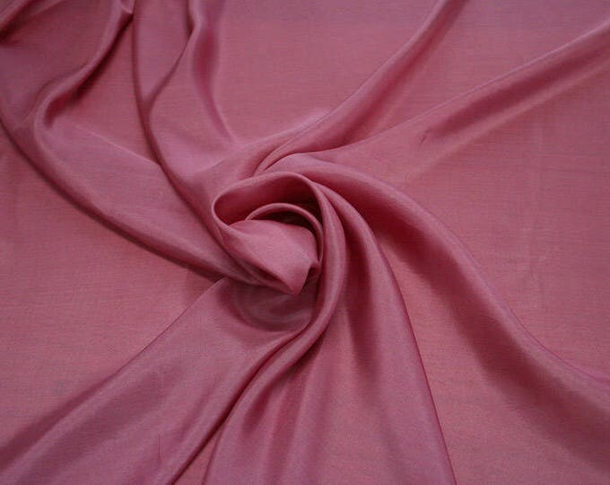 402123-taffeta natural silk 100%, width 110 cm, made in India, can be used liner, dry wash, weight 58 gr
