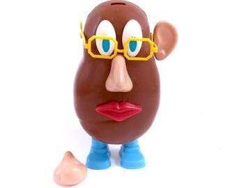 Vintage 1973 Mr Potato Head With Accessories Hasbro 70s Original First Edition 1st Original Classic Toys Antique Glasses Nose Shoes Ears ++