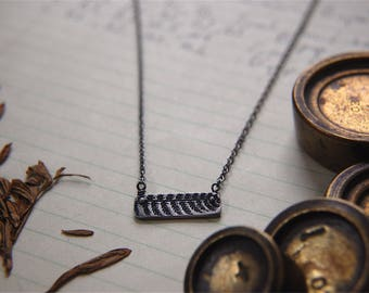 Pinned Fern Bar Necklace