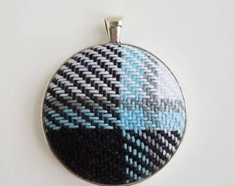 Wrap Scrap Jewelry - Pendant - Pretty Paisley - Timey Wimey - Wrap Scrap - Babywearing - Geek Gift - Plaid - Tartan