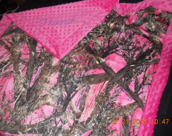 Minky Blanket, Pink Minky Blanket,  Pink Camo Minky Blanket, Pink Camo Blanket, Baby Girl Blanket, Baby Minky Blanket, Baby Blanket