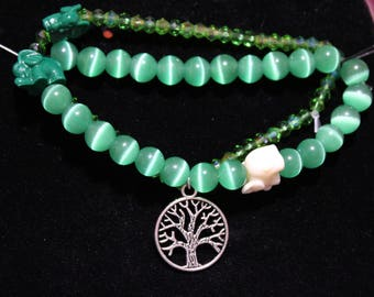 Green Tree of Life Bracelet