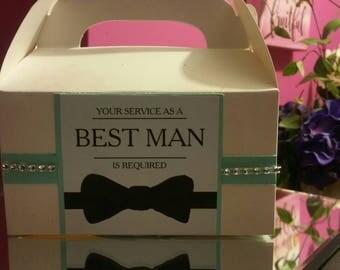 Best Man Gable favor boxes set of 20