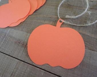 30 Pumpkin Tags, Large Pumpkin Tags, Small Pumpkin tags, Fall Tags, Pumpkin Hang Tags, Pumpkin Merchandise tags,Halloween Tags,Thanksgiving