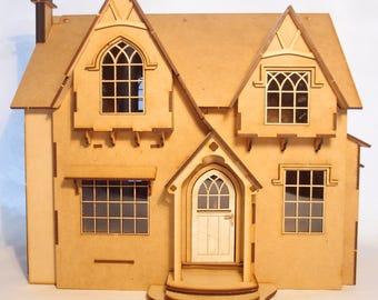 1:24 scale miniature dollhouse kit 'Black Walnut Cottage' for collectors