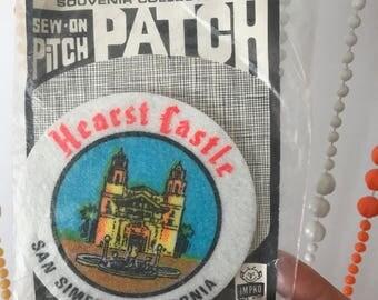 Vintage Sew On Pitch Patch Souvenir Collector's Hearst Castle San Simeon California Patch