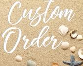 "Custom Order for Caitlin - Our New ""Beach"" Home 2017 Glitter Ornament"