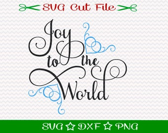 Christmas SVG File, SVG Cut File for Silhouette, Xmas SVG, Happy Holidays svg, Merry Christmas svg, Joy to the World svg