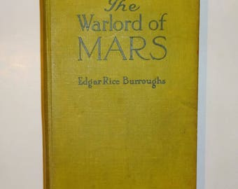 1919 The WARLORD OF MARS by Edgar Rice Burroughs, Grosset & Dunlap Edition