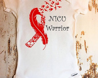 NICU Onesie, NICU Warrior, NICU baby, Heart Disease Onesie, Heart Onesie, nicu gift, nicu outfit, preemie onesie