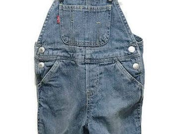 Cutest Levi's Strauss & Co overall 12 months Baby Overall Wash Jean  Unisex Overall