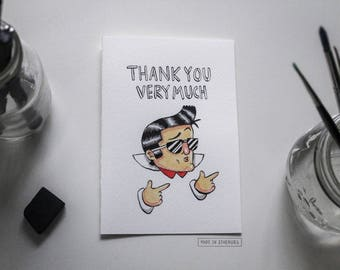Greeting Card - Thank You Very Much / Elvis Presley-inspired