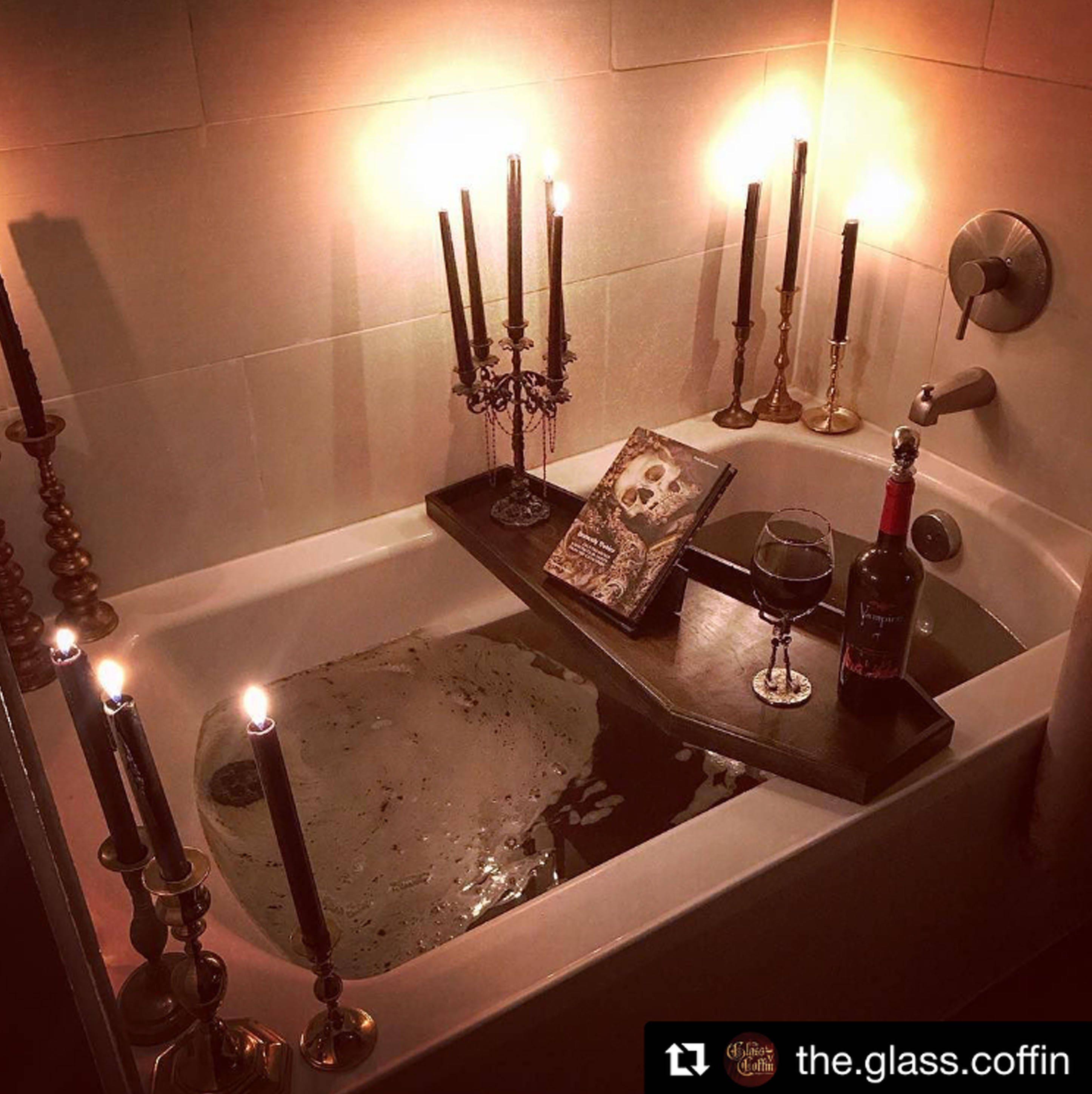 Coffin Bath Tray, Bath Caddy, Bathtub Tray, Bath Rack, Gothic, Goth ...