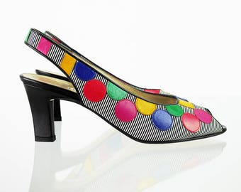 Colorful Linea Wally's vintage peep-toes 39