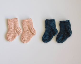 Knitted Baby Socks - Knitted Baby Booties - Knitted Baby Shoes - Must Haves for Baby- Knitted Baby Items - Newborn Going Home Outfit -