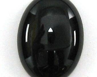 22x30mm black onyx oval cabochon cab 33776