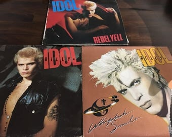 Billy Idol Record LP Collection