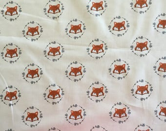 Quilting Fabric, Wilderness Fox, Camelot Fabric, Various Sizes Cut to order, Fox Print,