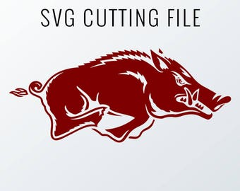 Arkansas Razorbacks Cutting Files in Svg, Eps, Dxf, Png, Jpeg, and Studio for Cricut & Silhouette