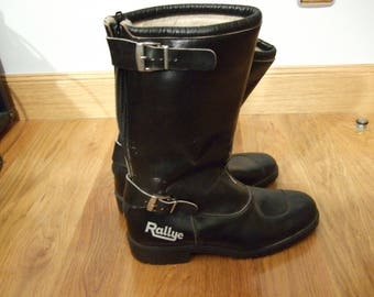 Vintage Classic Motorbike Boots size 43