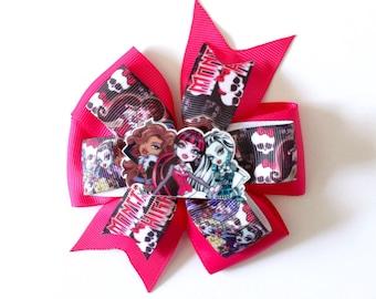 Monster High Pinwheel 'Kristen' Style Grosgrain Hair Bow