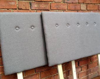 Handmade Linen Headboard, Upholstered, Made to Measure, Buttoned, Bespoke Styles/Sizes Available- PLEASE NOTE- Full Price on Quotation