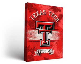 Texas Tech TTU Red Raiders Canvas Wall Art Designs