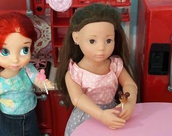 Sucettes pour poupées Gotz , Américan girl , poupées Animator ou autres de 18 inch